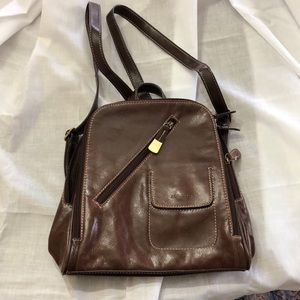 Aurielle Leather Backpack Purse